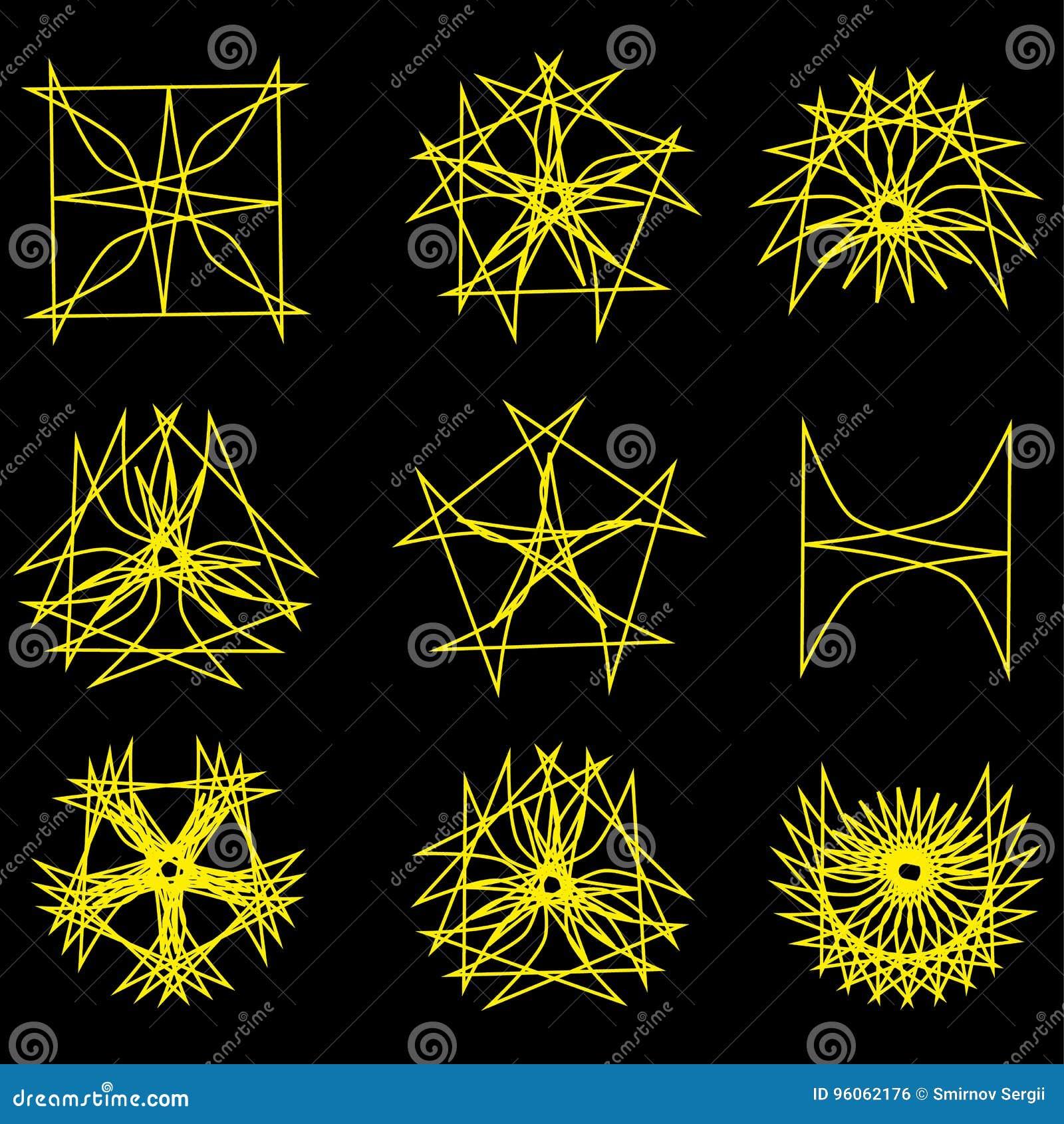 Pentagone étoilé réglé d astrologie d étoile d icône