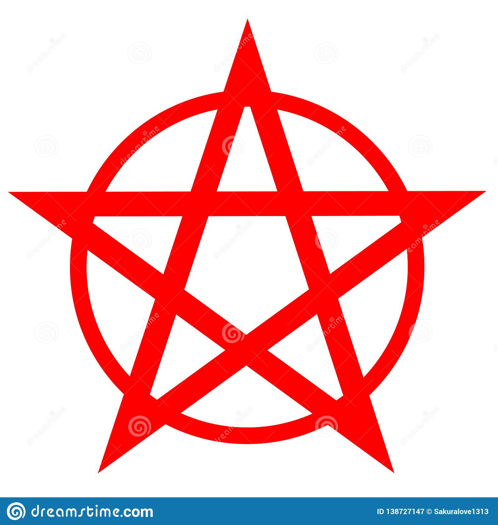 cb167063db5ec Pentagram or pentalpha or pentangle. dot work ancient pagan symbol of five-pointed  star