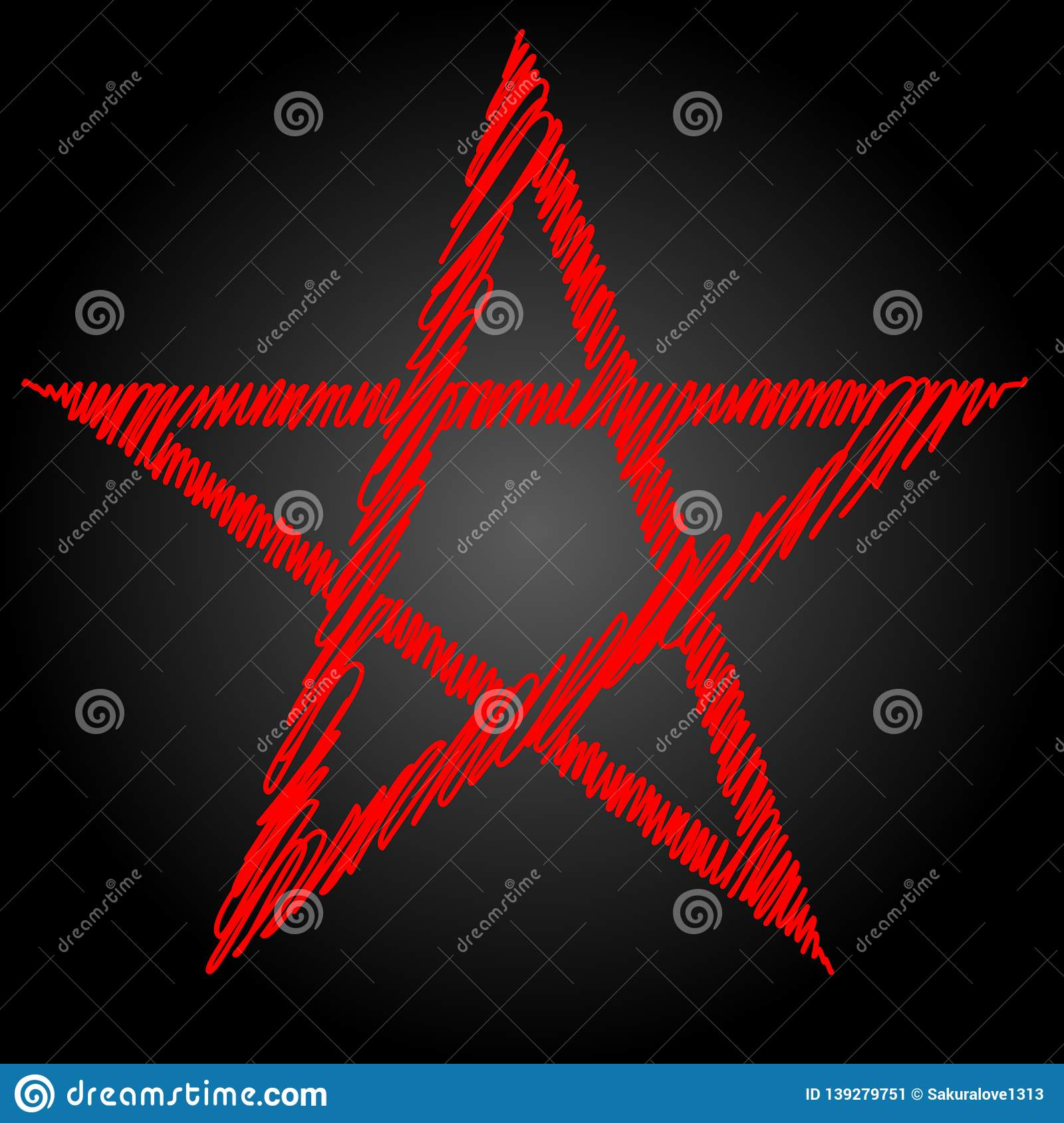 Pentagram Or Pentalpha Or Pentangle  Dot Work Ancient Pagan