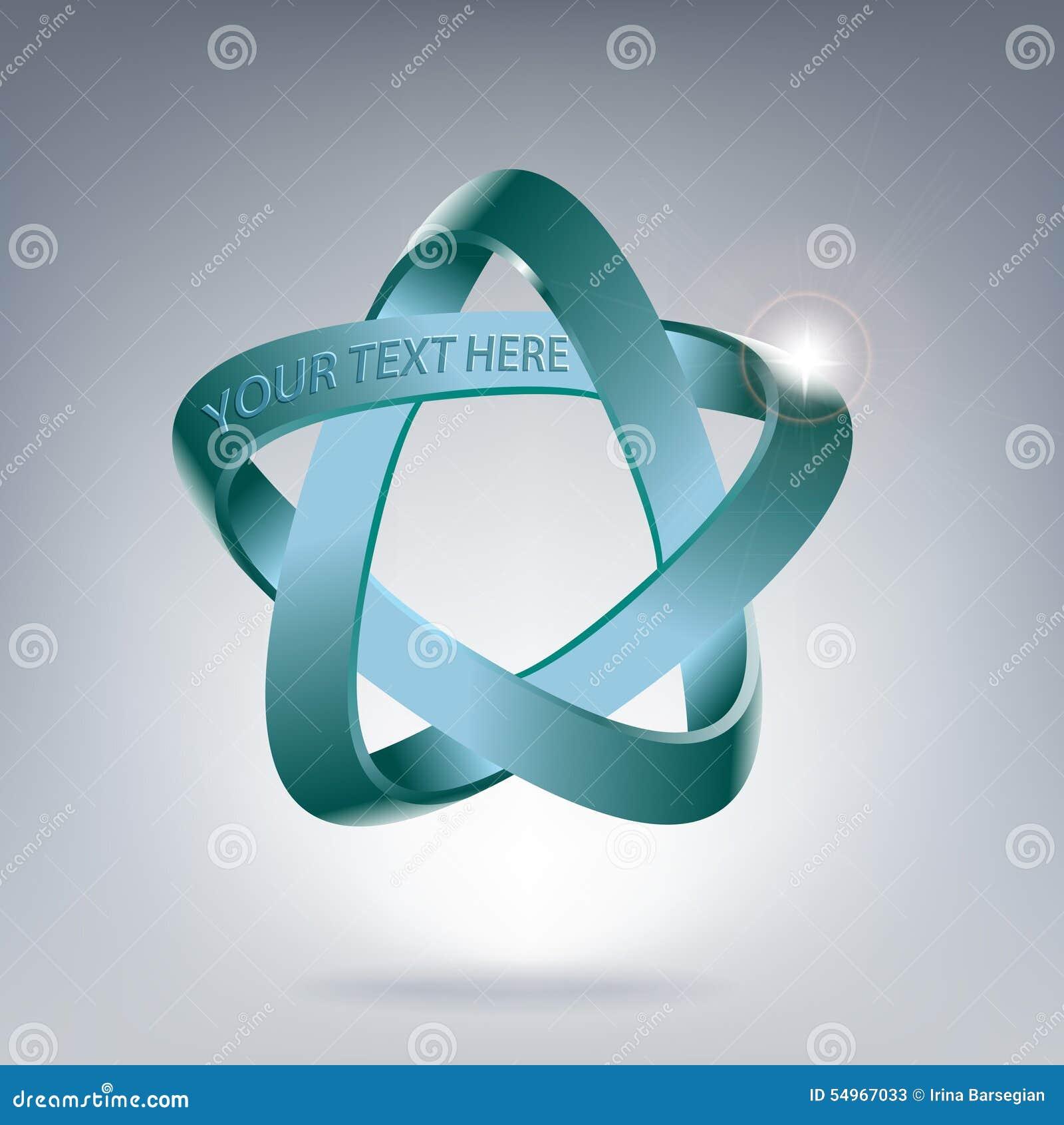 Pentagramma en ster in ruimte symbool van de geest lucht water aarde brand vector - Ruimte van water kleine ruimte ...