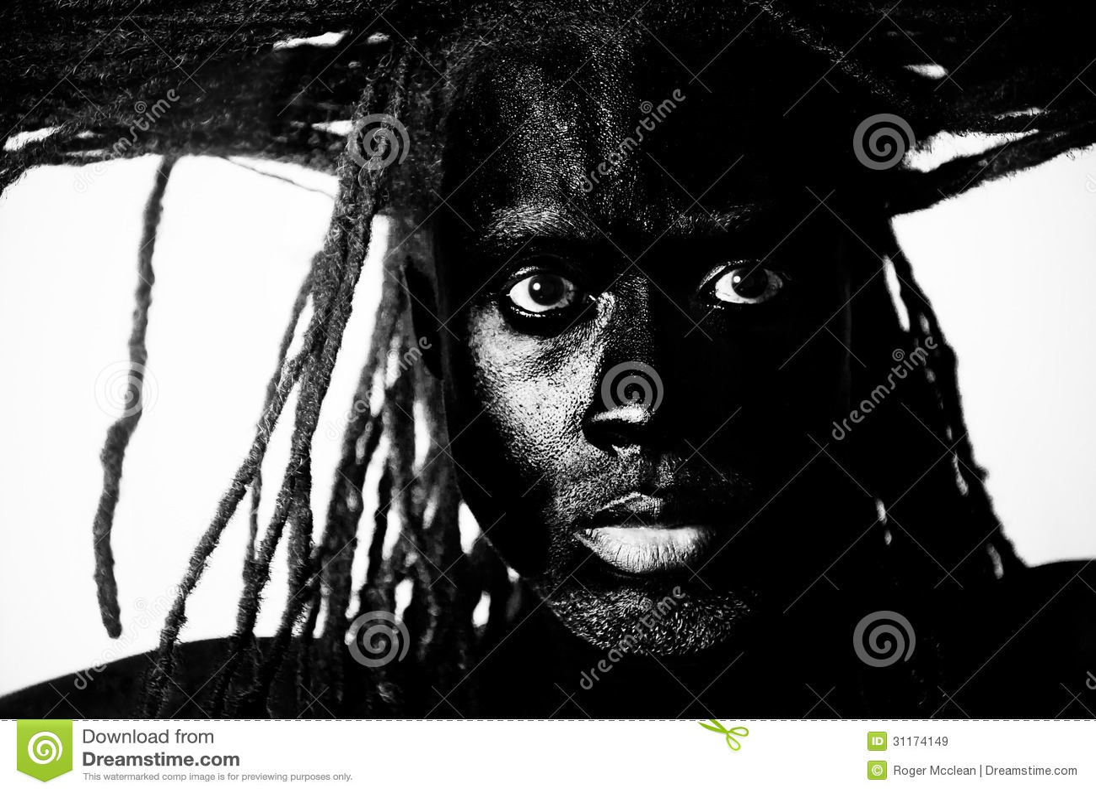 Penteado masculino preto