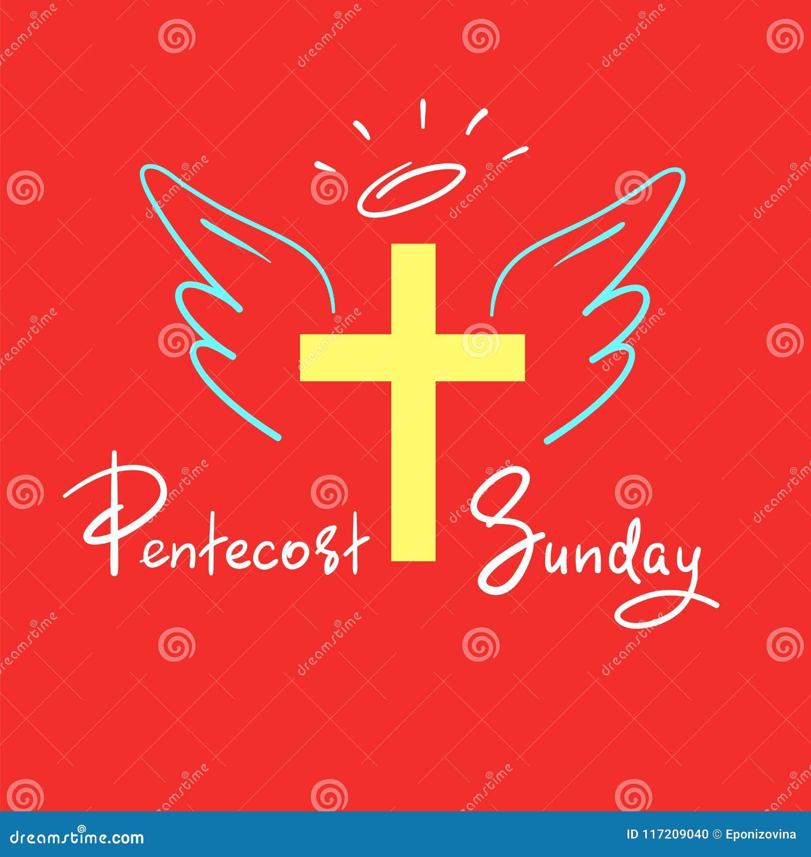 Pentecost Niedziela Motywacyjny Wycena Literowanie