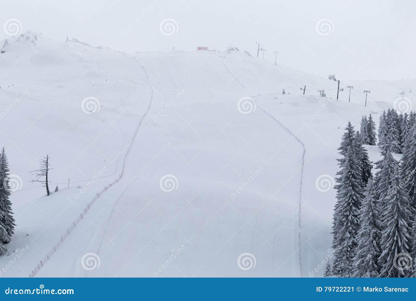 Pentes de ski, montagne Jahorina