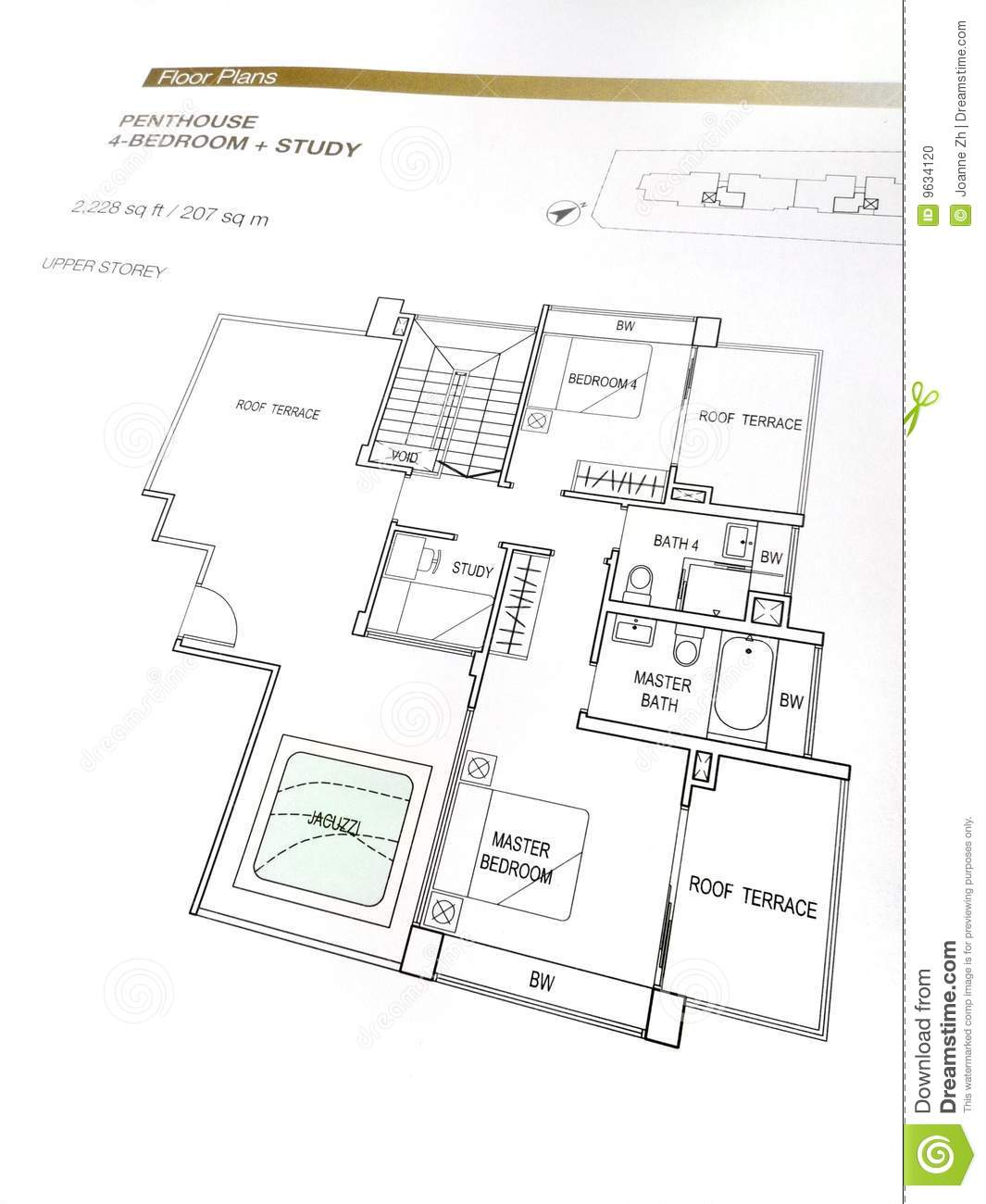 Penthouse floor plans stock photo image of building for Stock floor plans