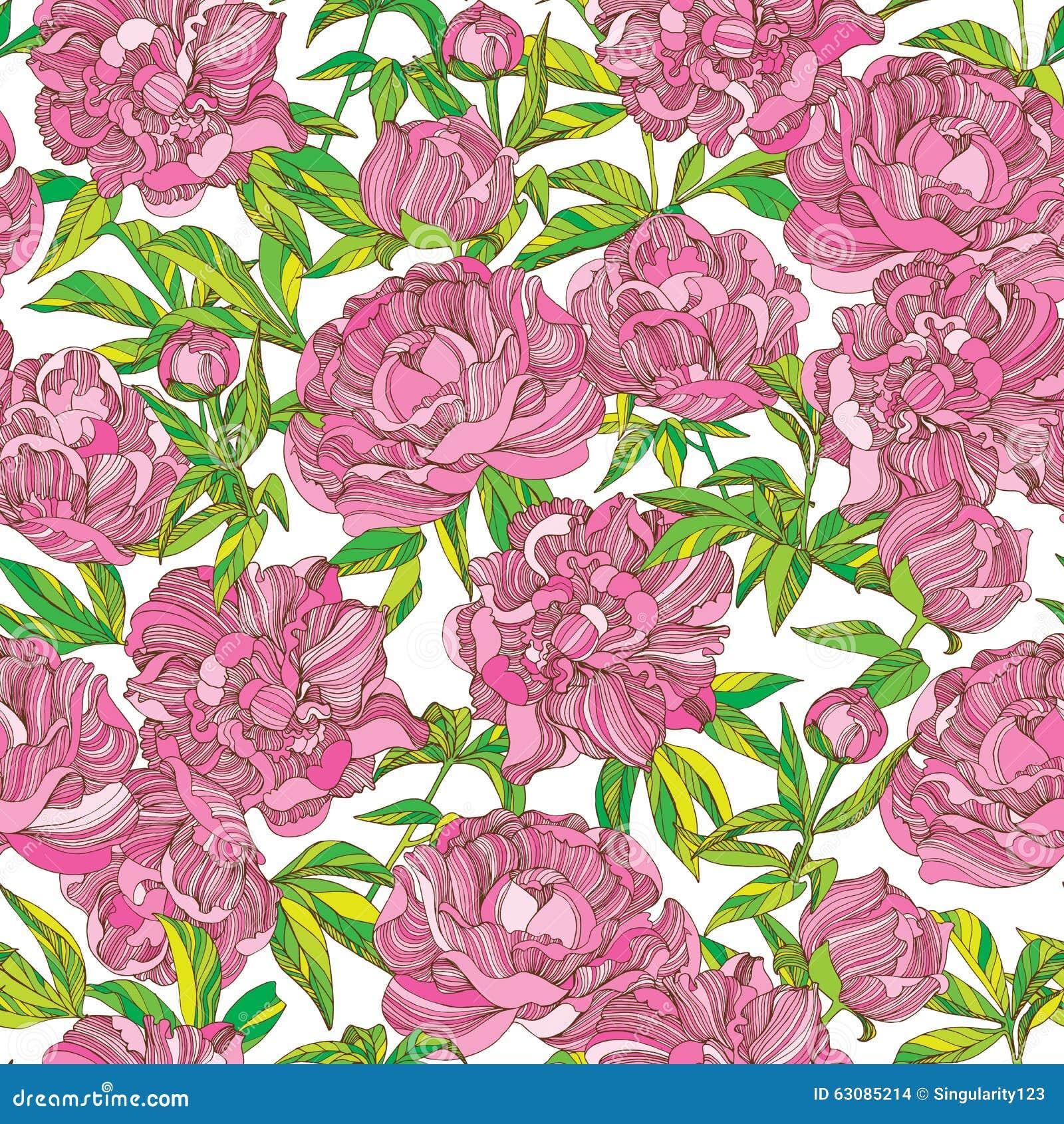 Peony Wallpaper Pattern