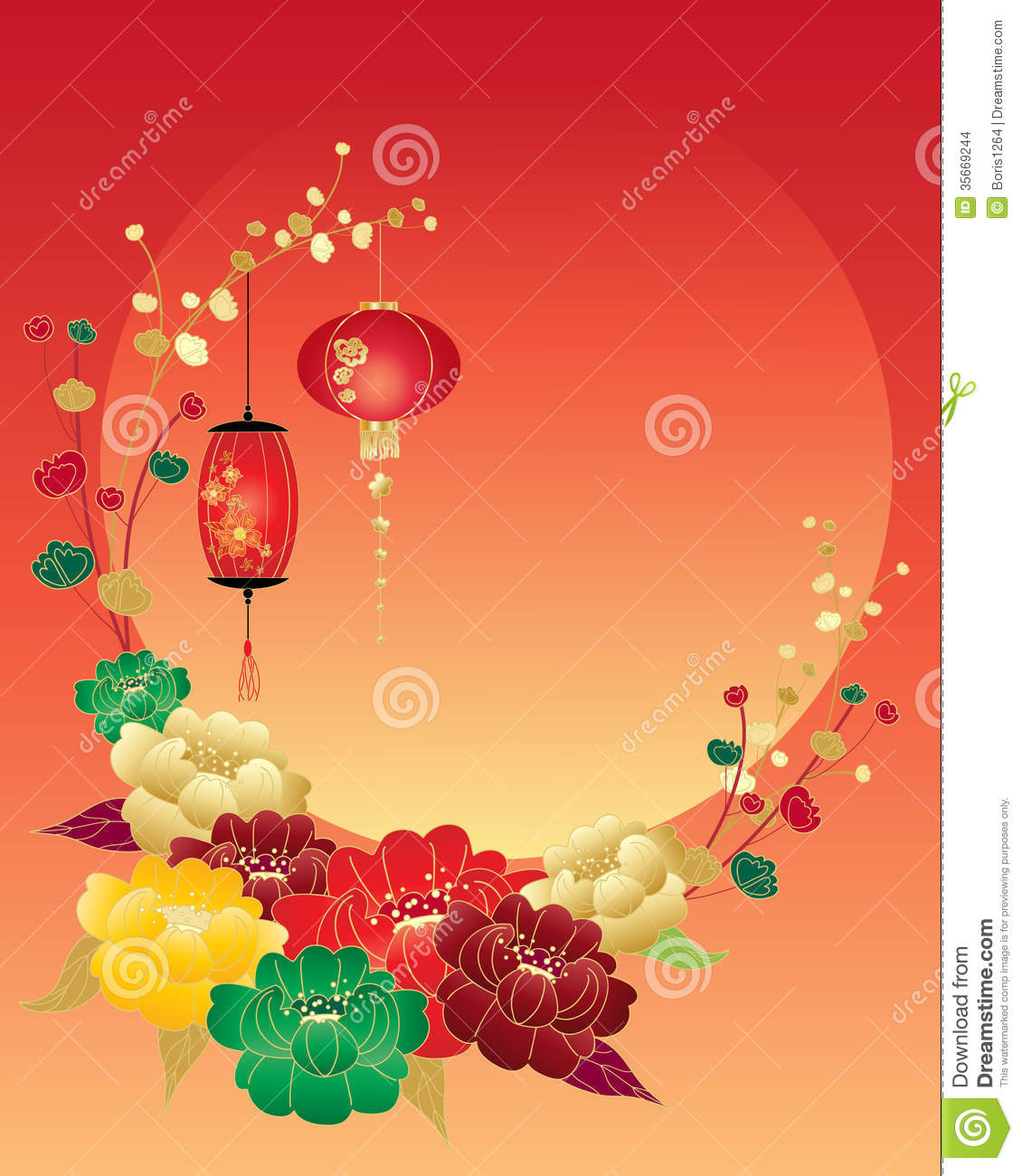 Peony greeting stock images image 35669244 - Flowers for chinese new year ...