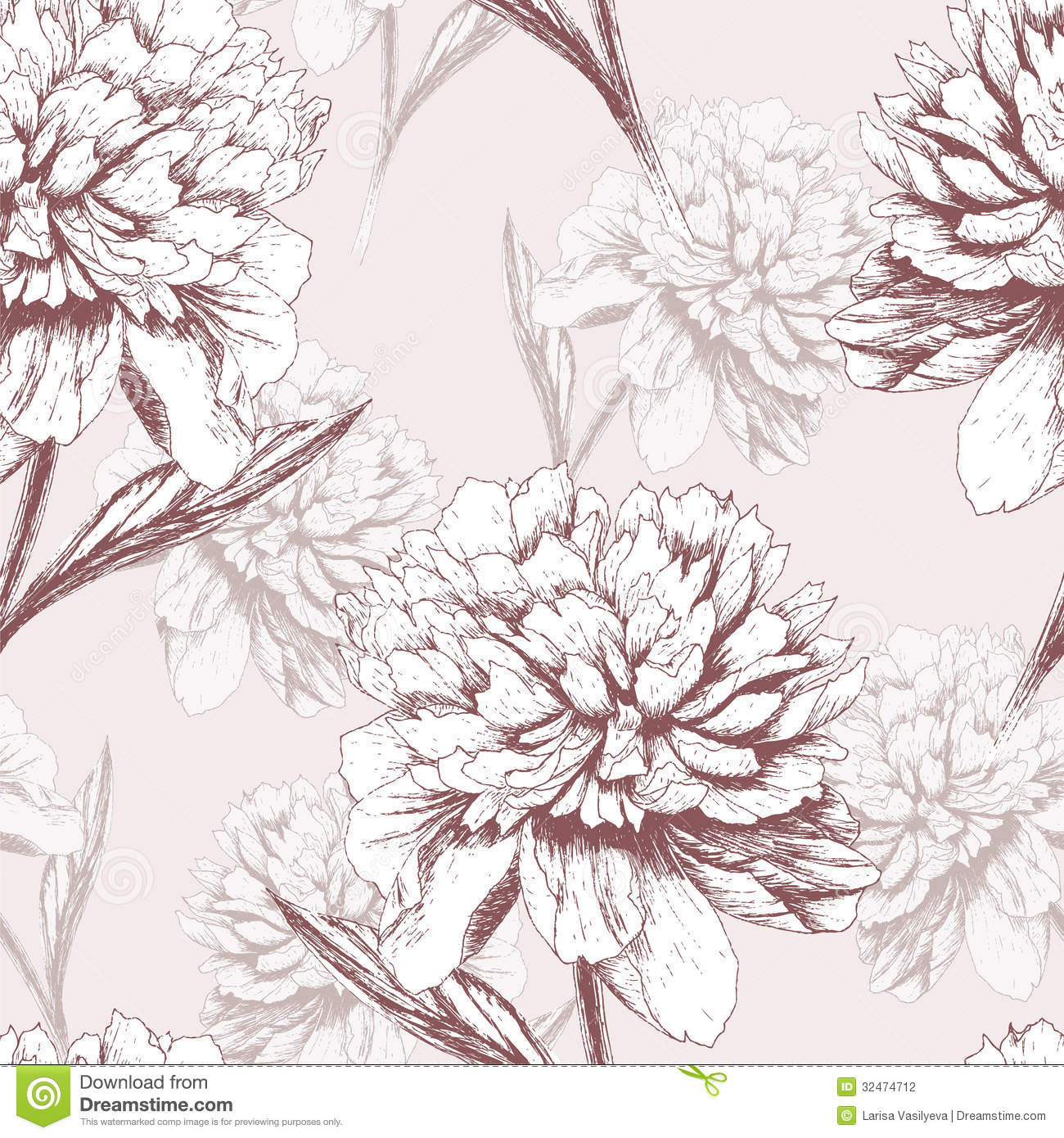 Peony flower isolated on white stock vector 368014568 shutterstock - Peony Pattern Stock