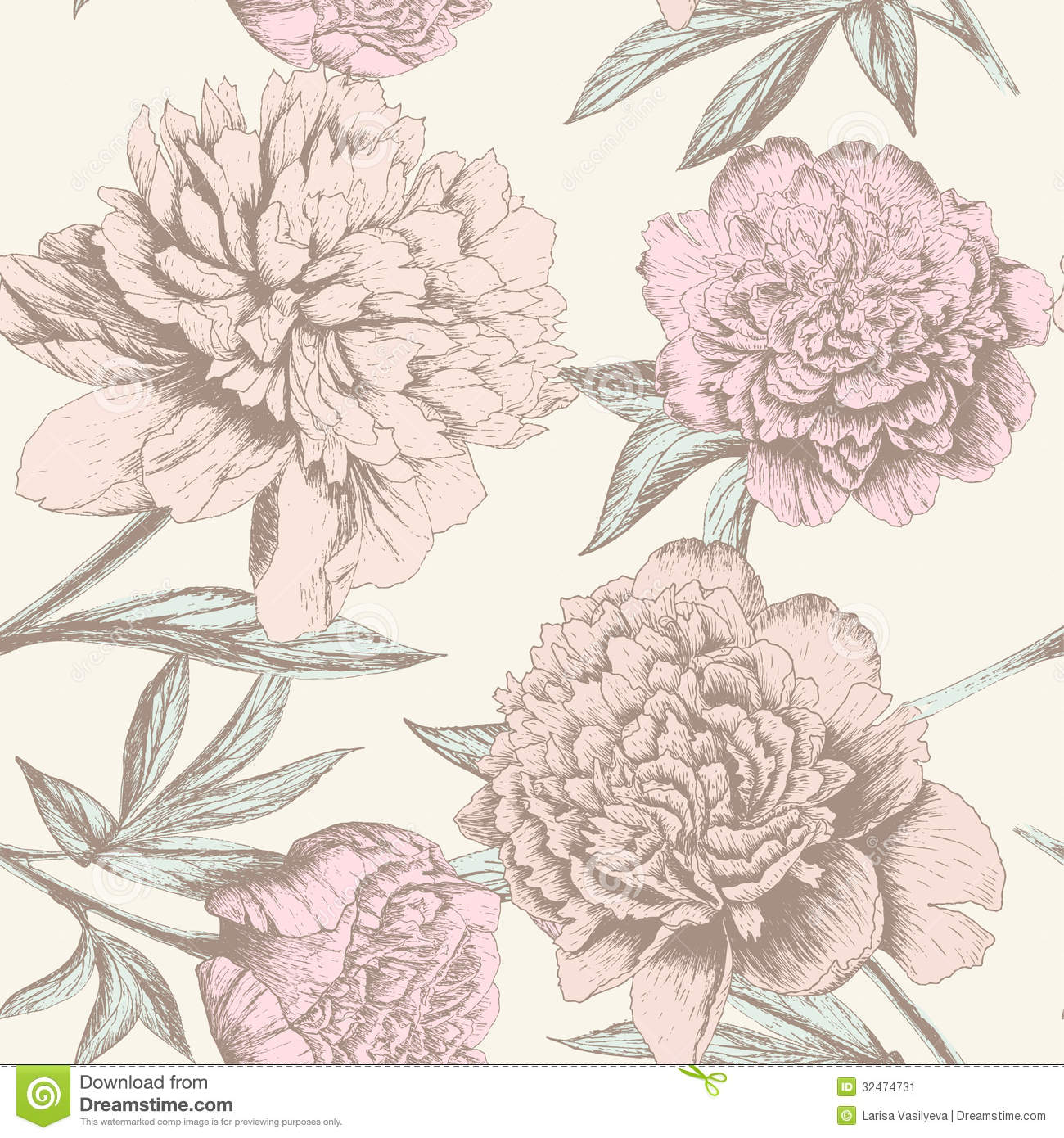 ... sketch pattern. Shabby chic flower background for you scrapbooking