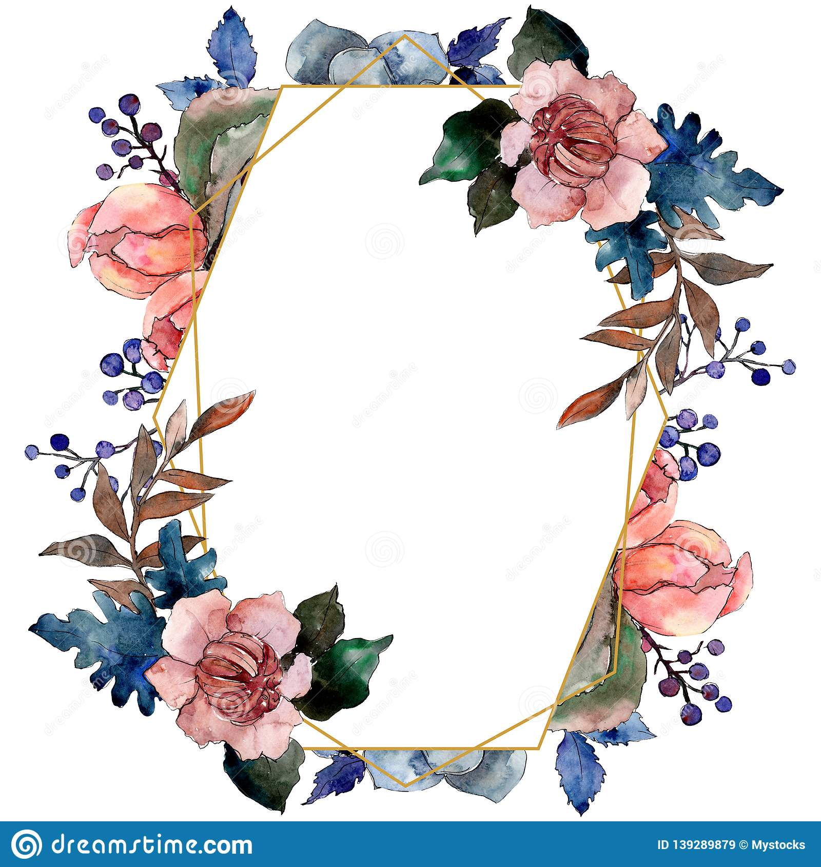 Peony And Succulent Bouquet Floral Flower Watercolor Background Illustration Set Frame Border Ornament Square Stock Illustration Illustration Of Decoration Isolated 139289879