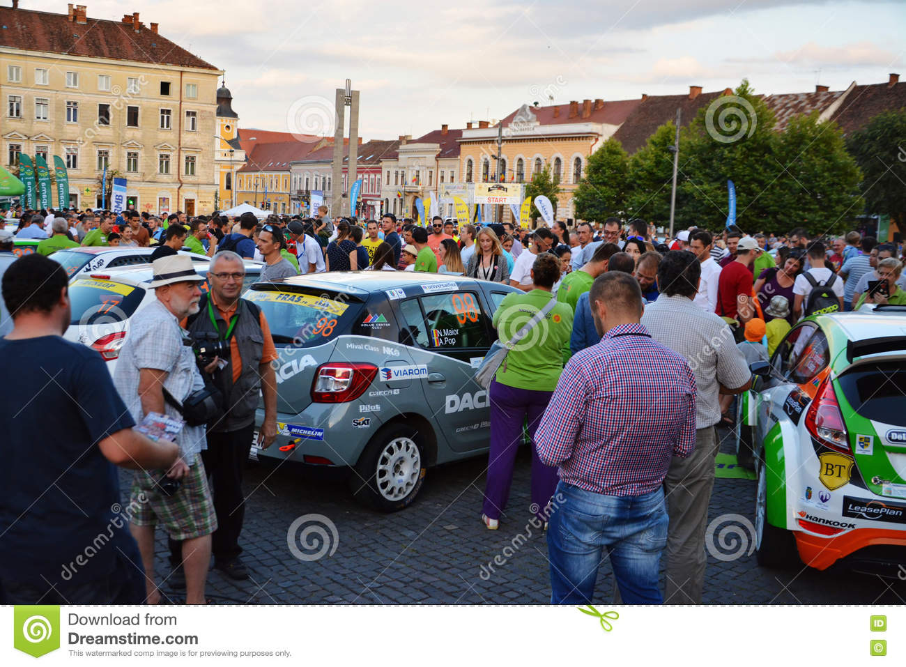 Download People Admire The Race Cars At Transilvania Rally 2016 Cluj Napoca Editorial Photo
