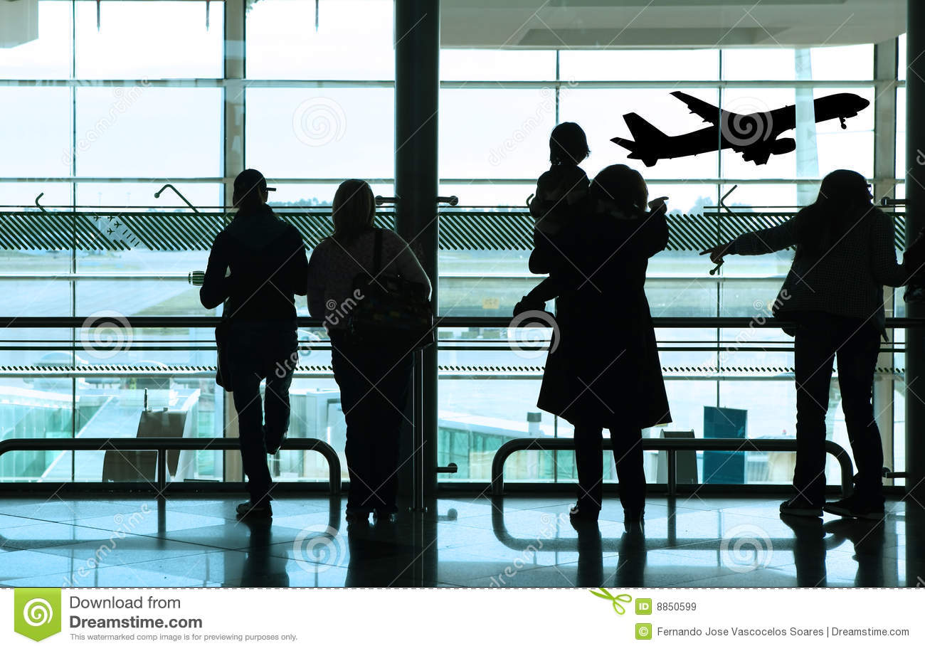 Free Images Traveling People Airport Bridge Business: People In The Airport Royalty Free Stock Images