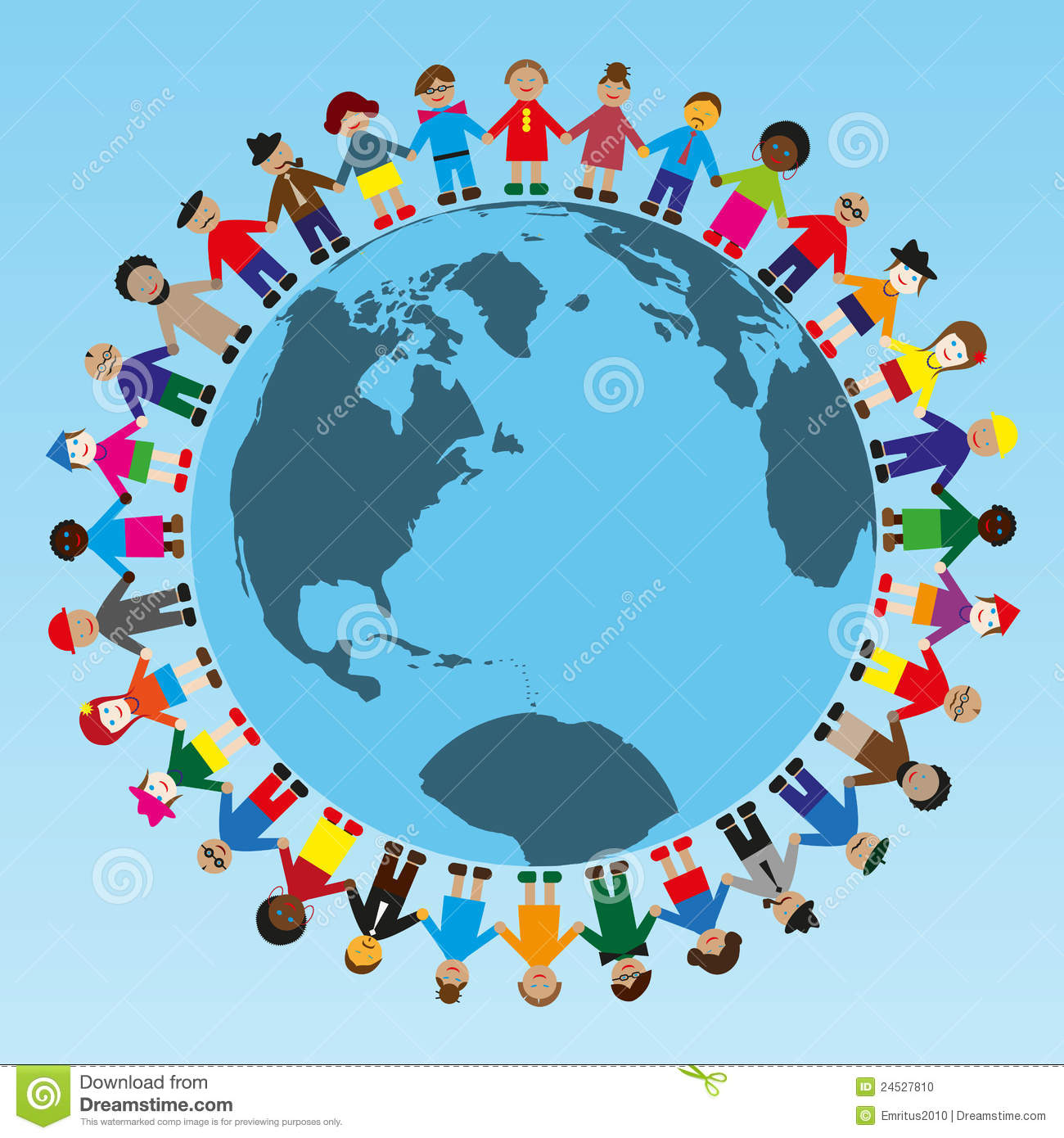 people around the world stock vector illustration of diverse 24527810