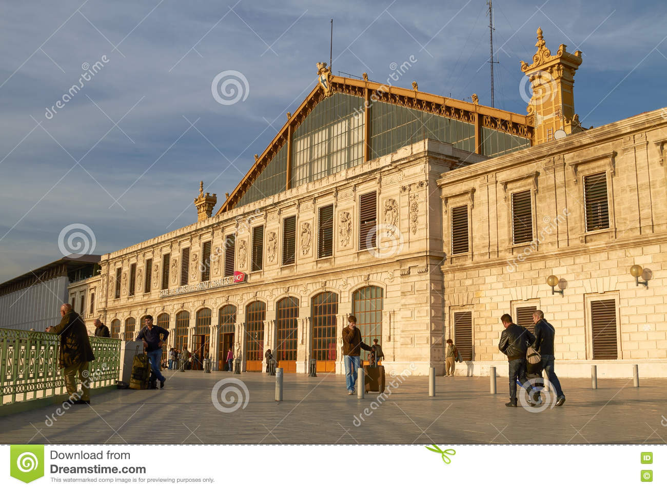 People Arriving to Saint Charles Train Station in Marseille, France