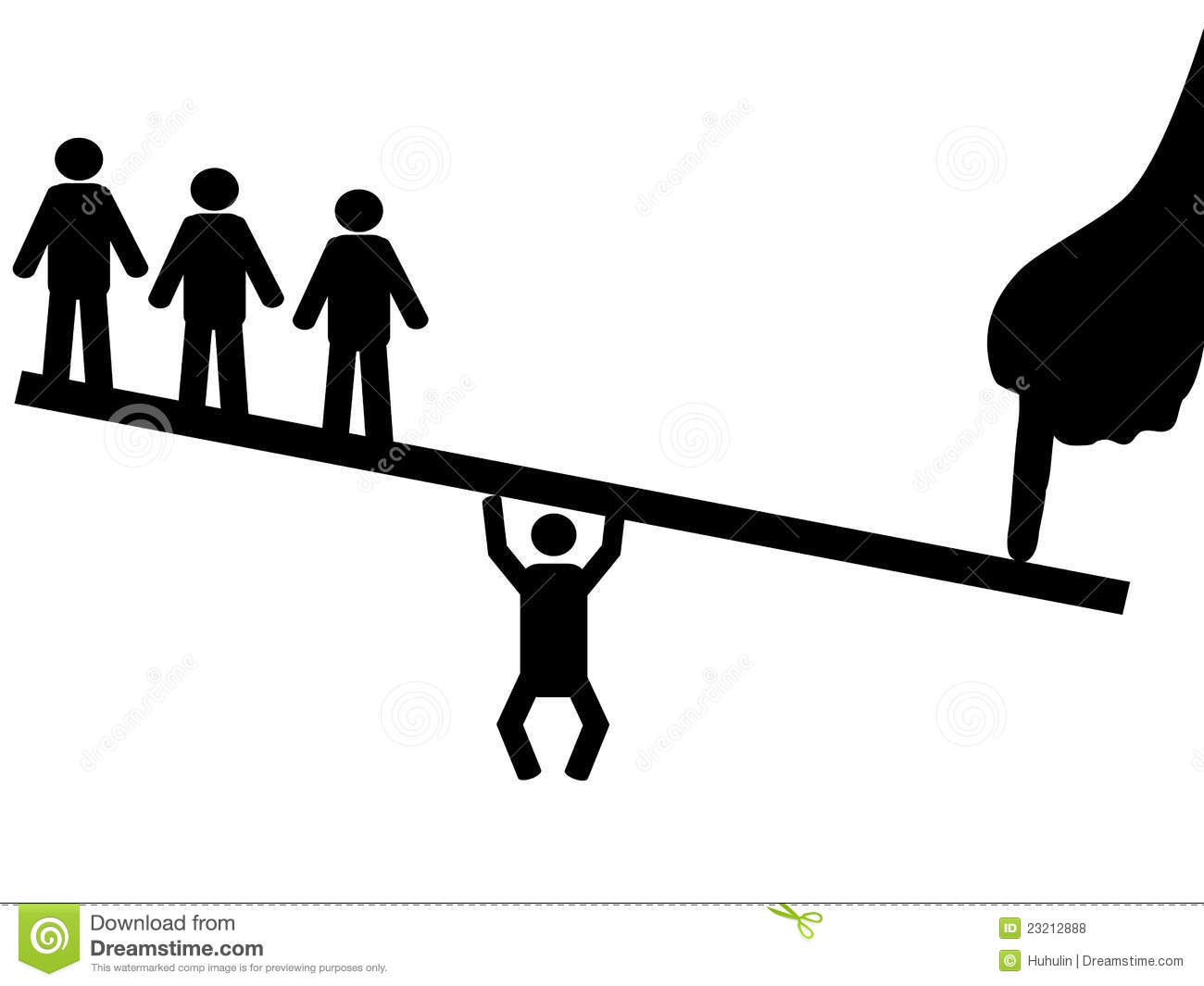 People balance on seesaw stock vector illustration of for Seesaw plans designs