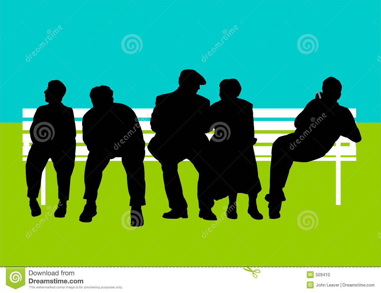 People on bench stock illustration. Illustration of couple - 509410 for People On Bench Silhouette  545xkb