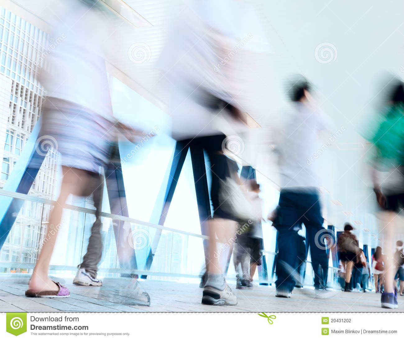 People Blurred In Motion Stock Photo Image Of