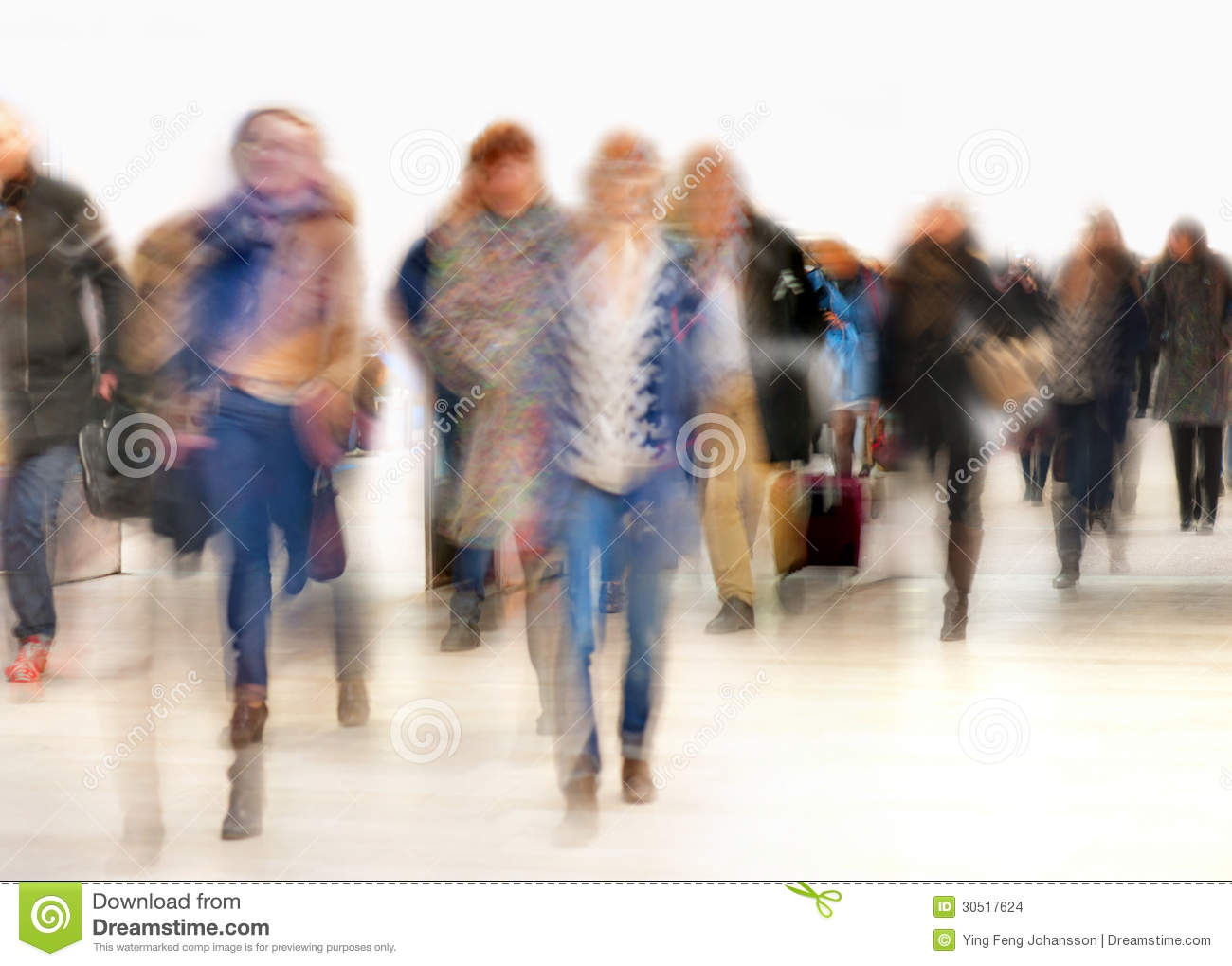 People In Blurred Motion Stock Images - Image: 30517624