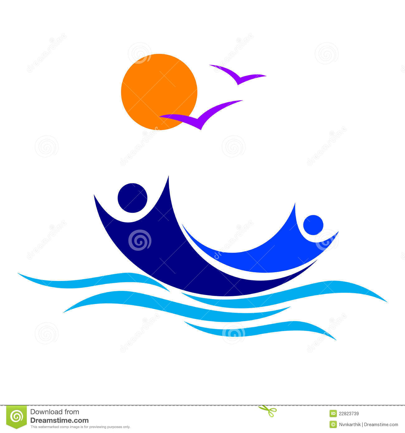 boat on the beach clip art