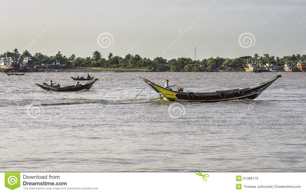 People on the boat editorial stock image image of rangun for Http wikipedia org wiki