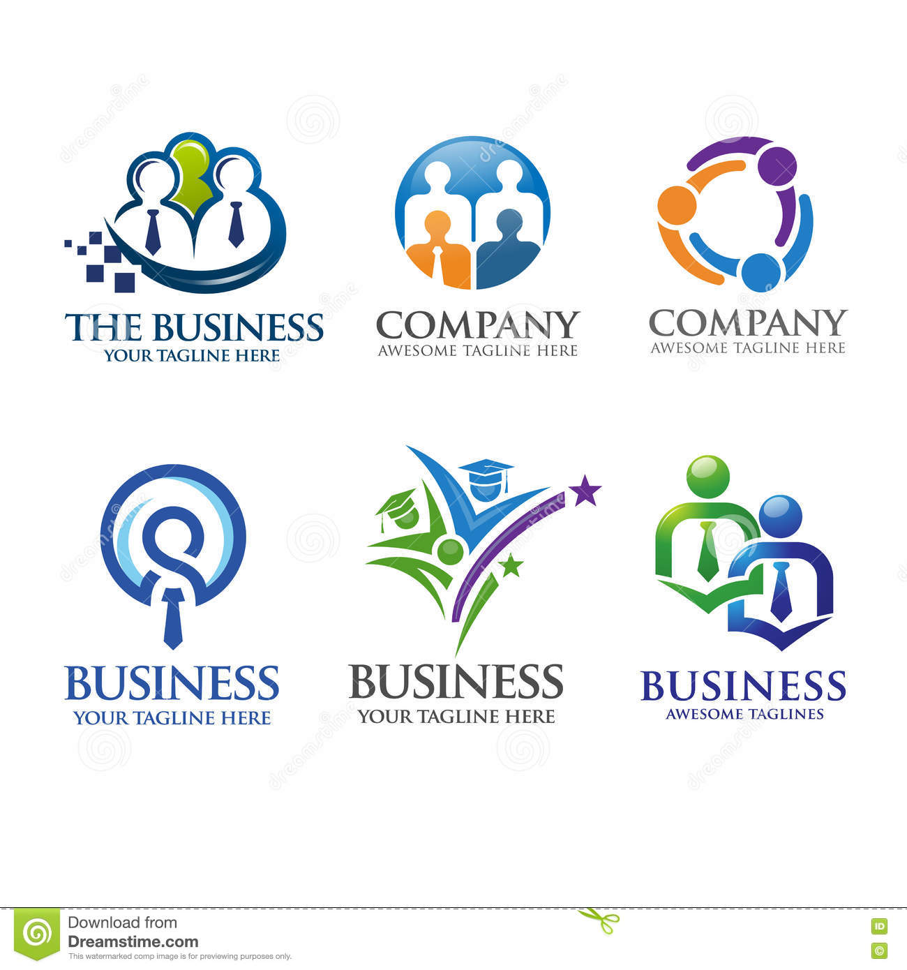 People Business And Leadership Logo Stock Vector
