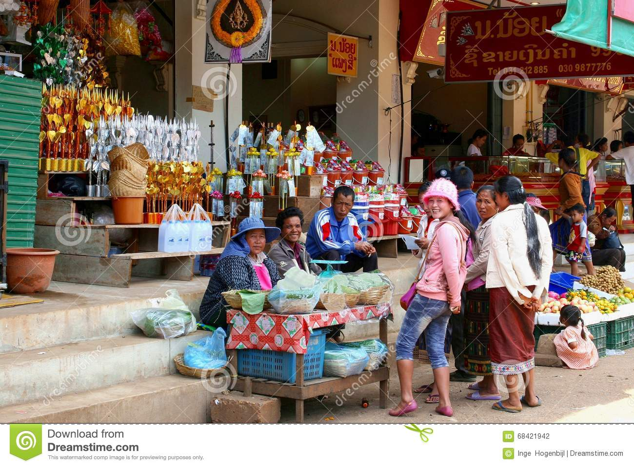 people buy sell food souvenirs market laos editorial photography image of diversity ladies. Black Bedroom Furniture Sets. Home Design Ideas