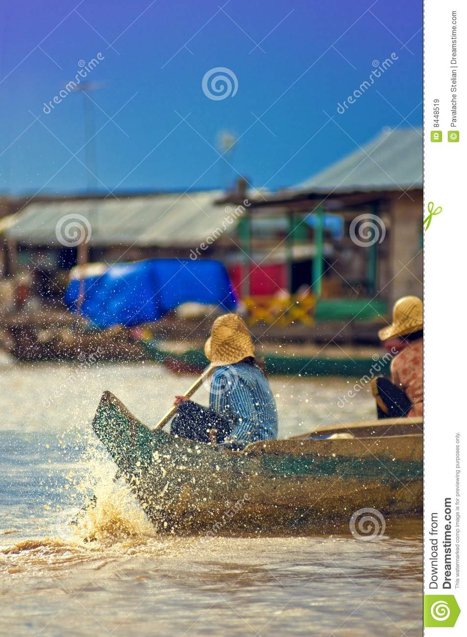 People from Cambodia (Tonle Sap lake)