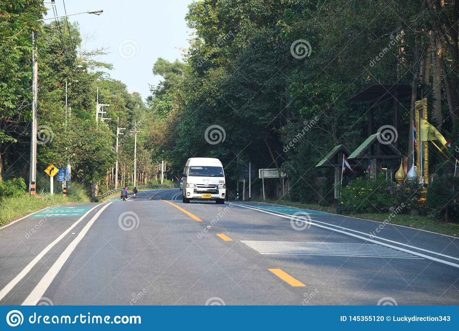 People cars bikes bangkok city highway roads. People cars bikes highway roads bangkok city ,thailand ,february 9th 2019 stock photo