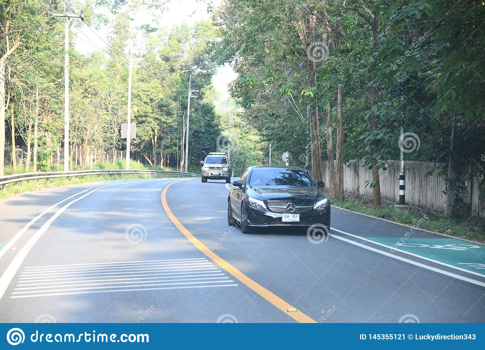People cars bikes bangkok city highway roads. People cars bikes highway roads bangkok city ,thailand ,february 9th 2019 stock image
