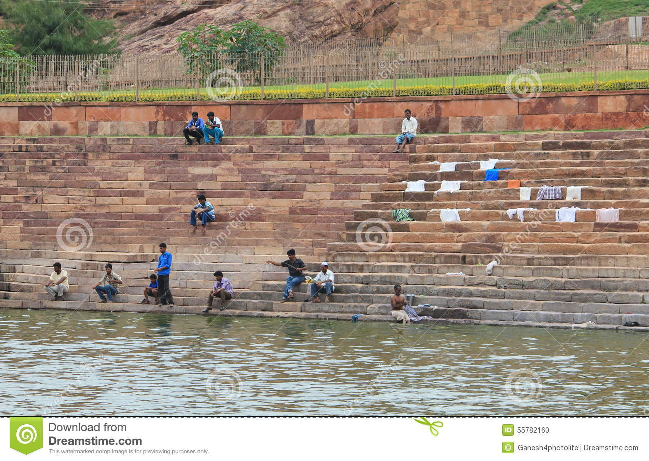 People Catching Fish Near By A Pond India Editorial Image Image 55782160