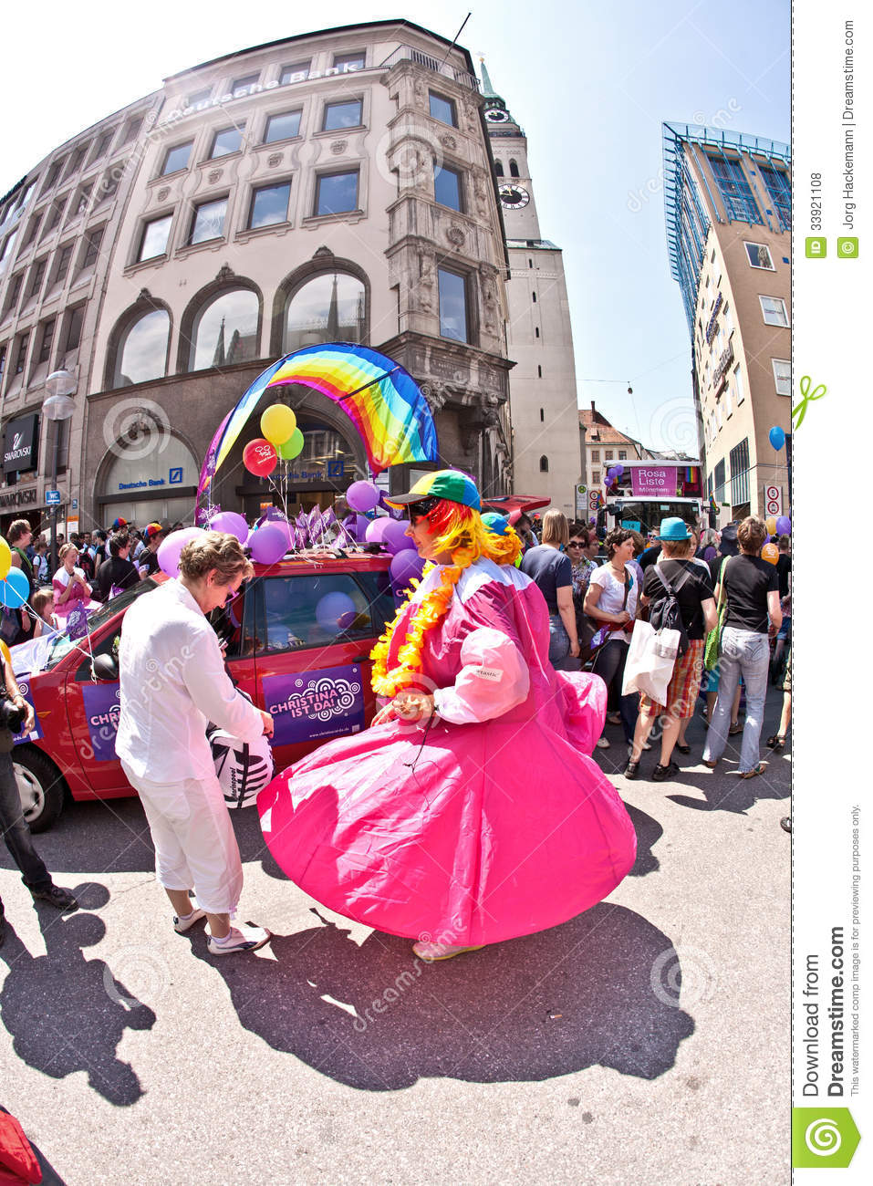 People celebrate the christopher street day in munich editorial stock