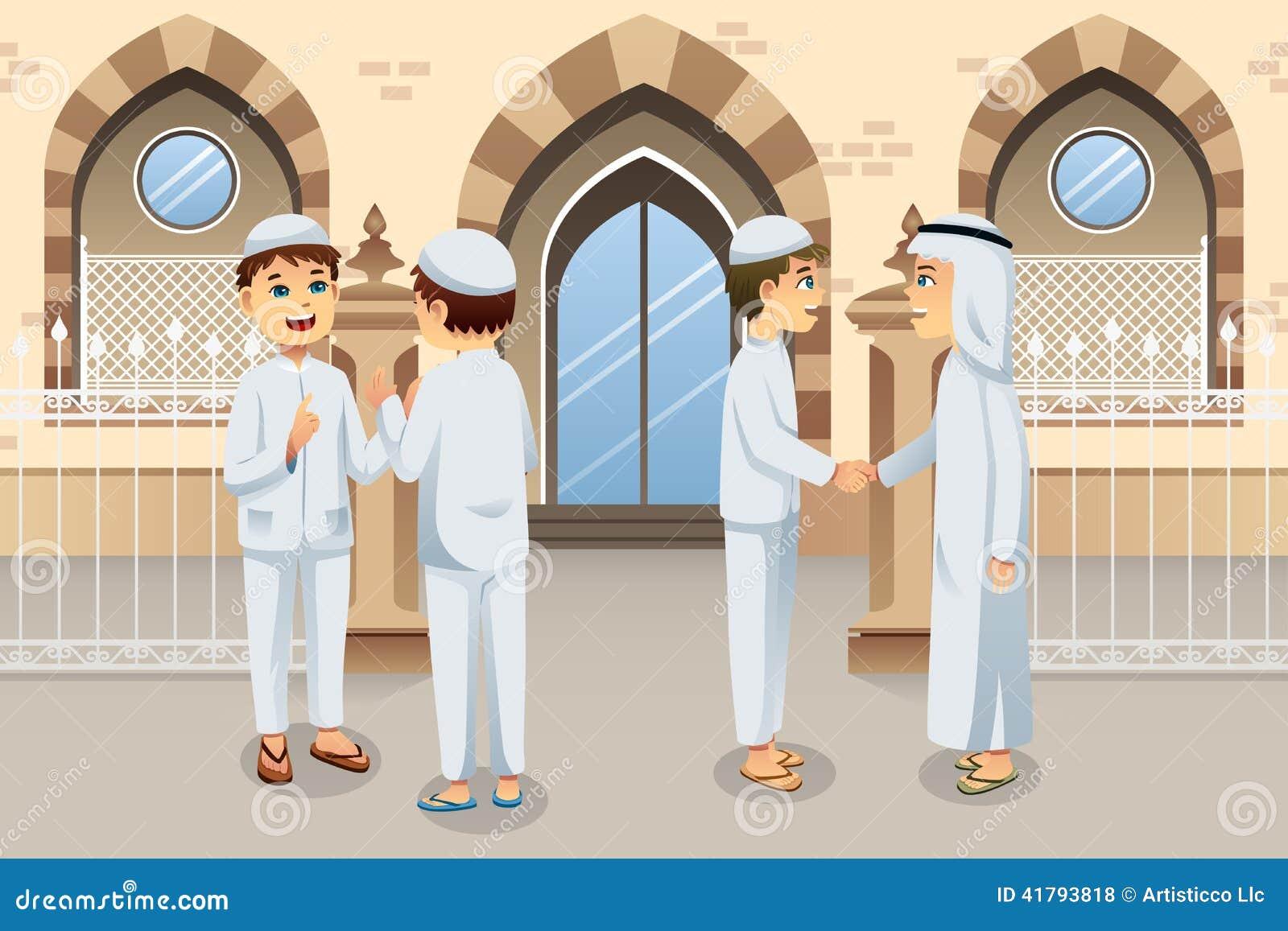 People Celebrating Eid-Al-fitr Stock Vector - Image: 41793818