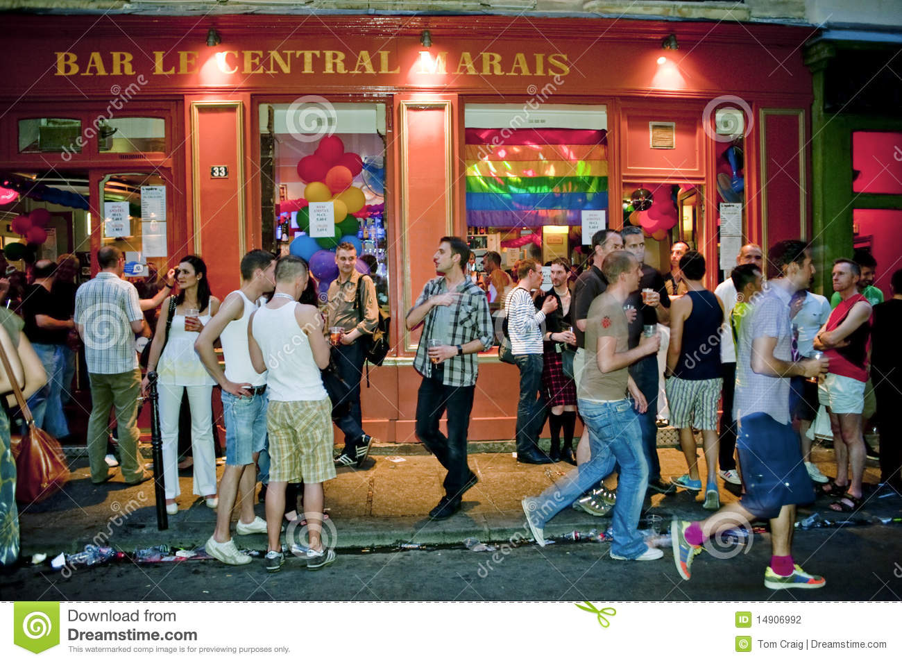 Paris Gay Map 2018 - gay bars, clubs,