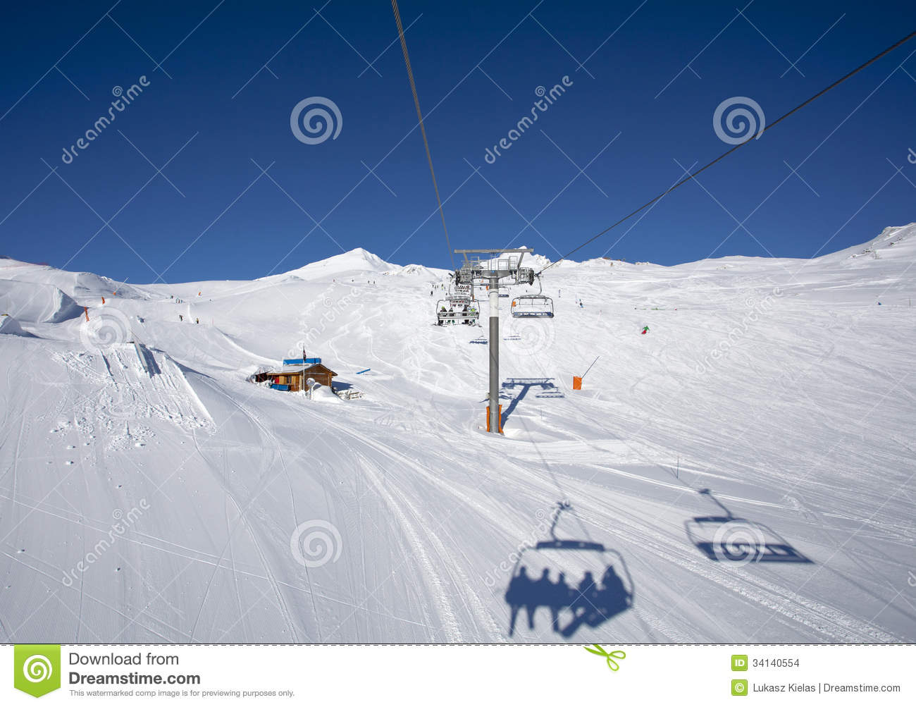 People On The Chairlift Stock Images Image 34140554