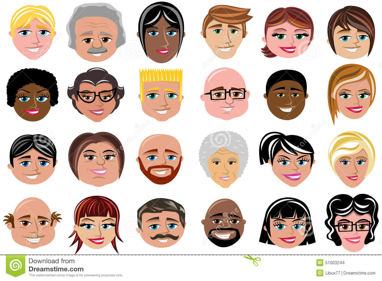 People Characters Character Avatar Isolated Stock
