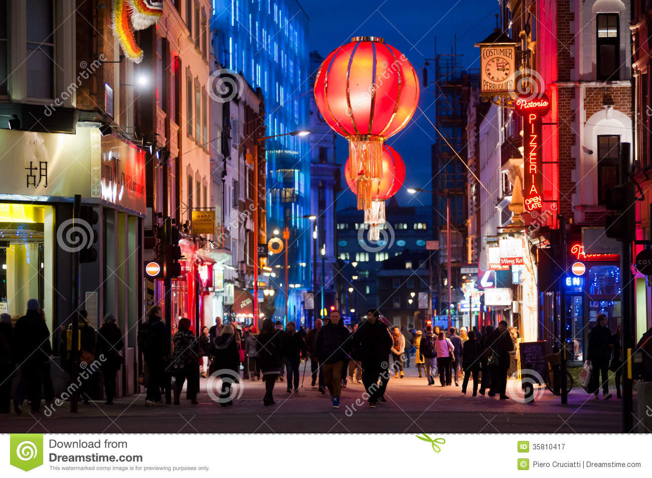 People enjoy the nightlife in chinatown in london on december 6 2013