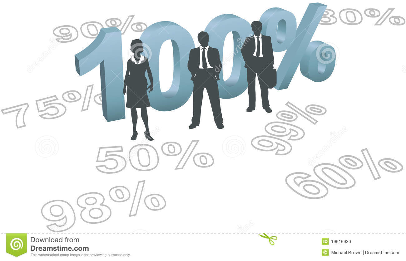 People Choose 100 Per Cent Quality Effort Stock Vector