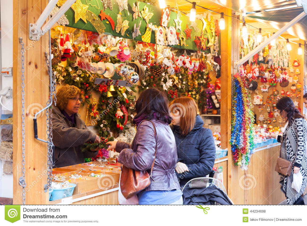 People Choosing Christmas Gifts Editorial Stock Photo - Image of ...