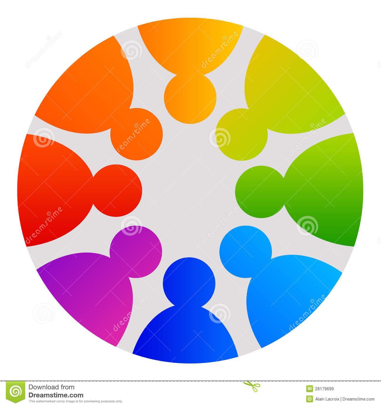 People Circle Royalty Free Stock Images