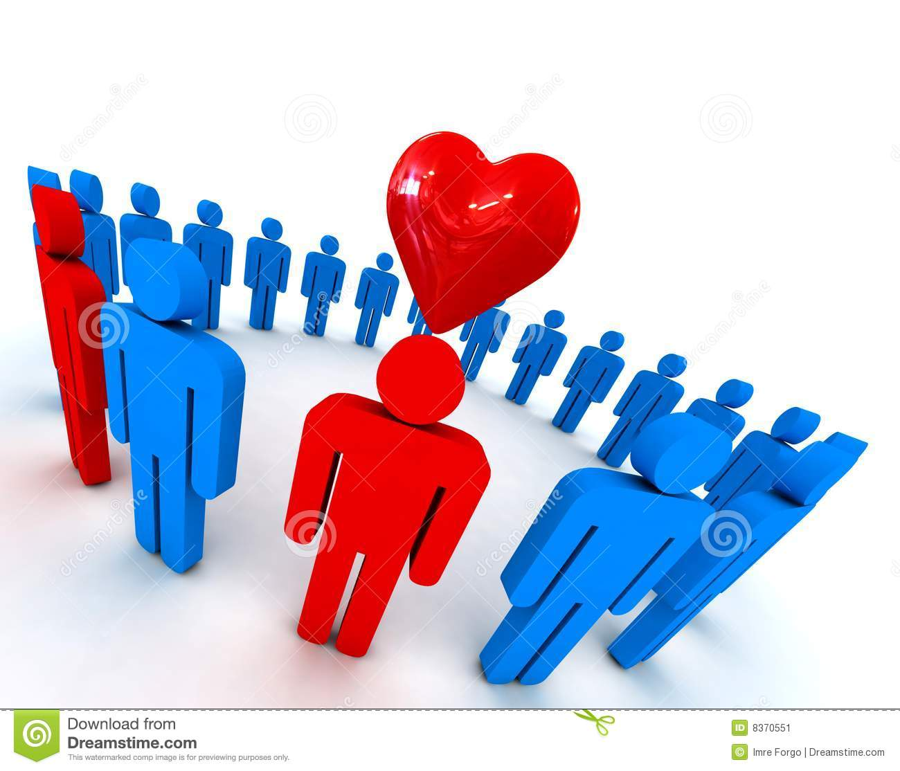 People in circle with heart symbol stock illustration image 8370551 people in circle with heart symbol buycottarizona