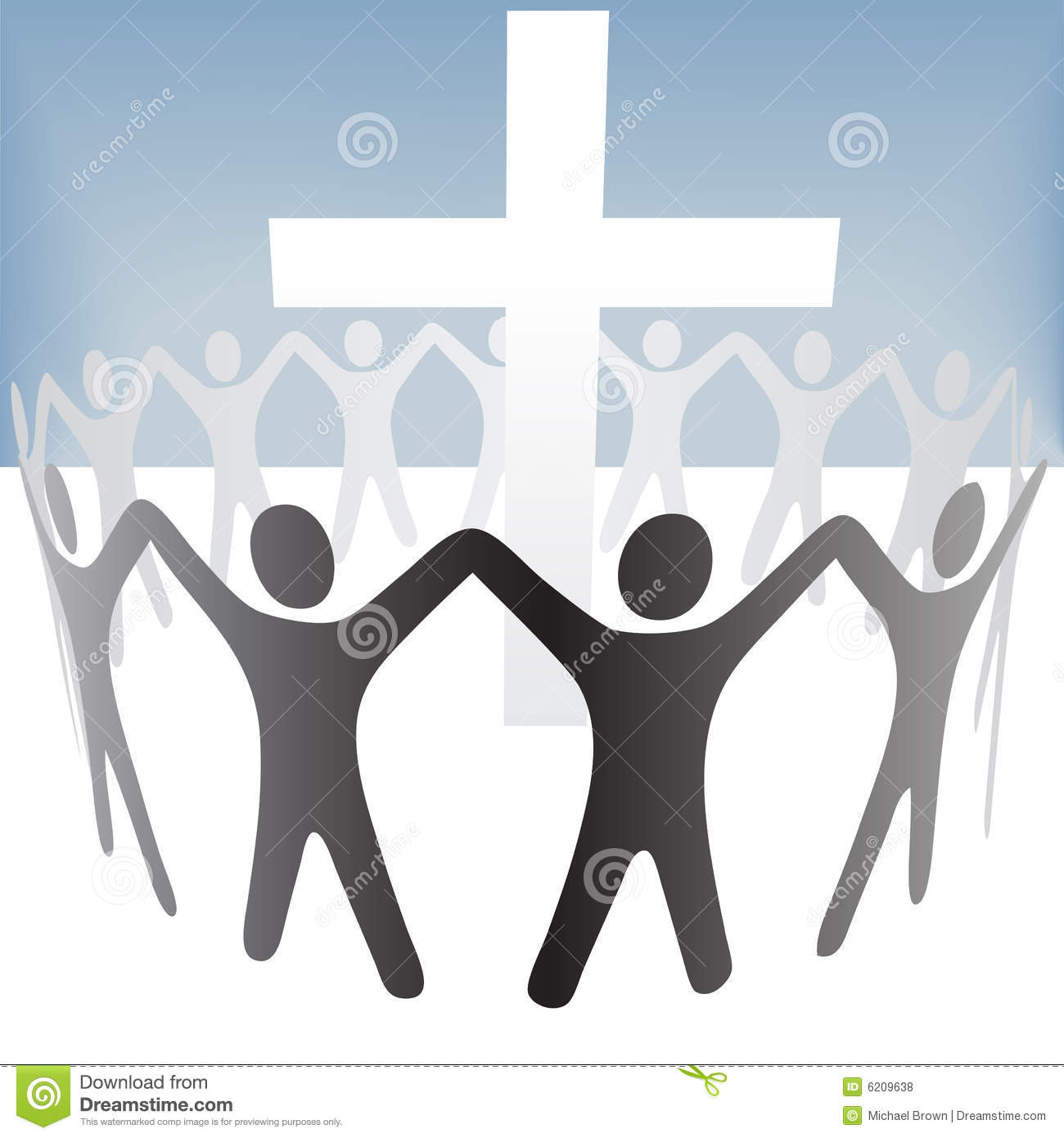 people circle hold up hands gather around a cross royalty hand vector outline hand vector logo