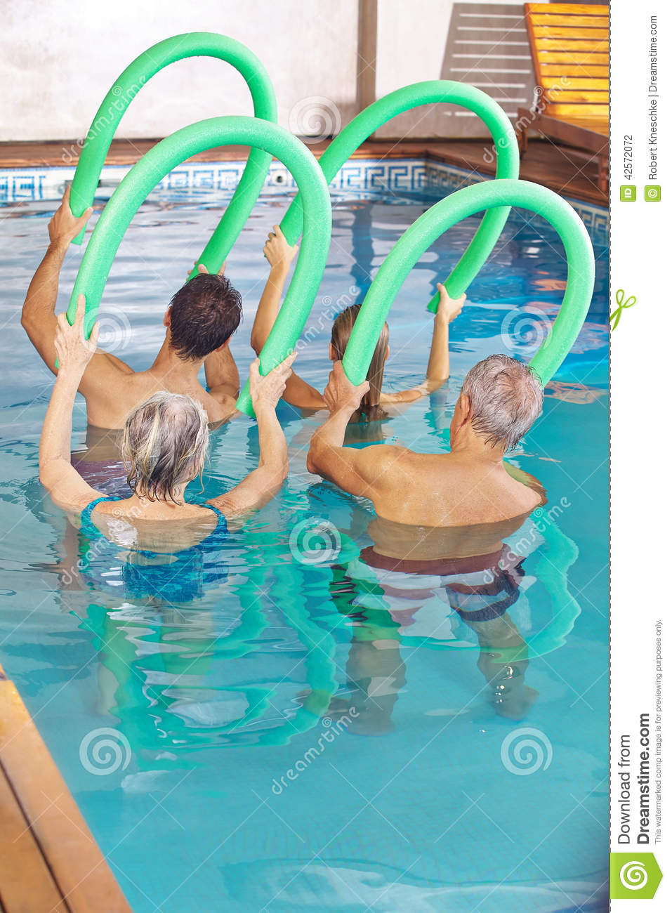 People In Class Doing Aqua Fitness Stock Photo Image 42572072
