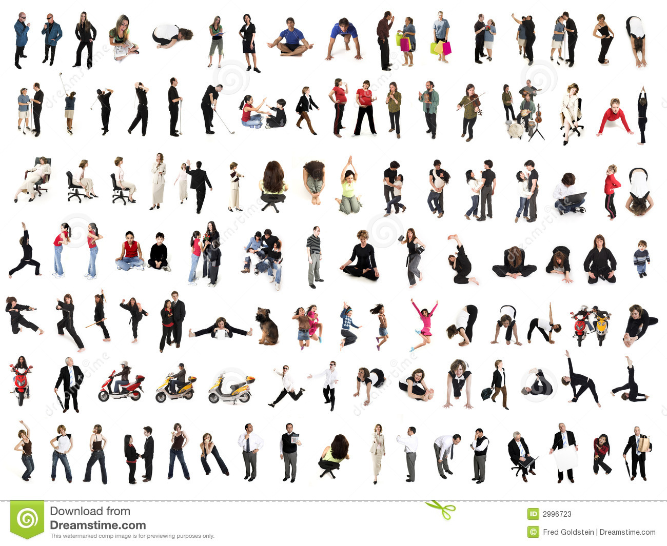 People Collage Stock Photos - Image: 2996723