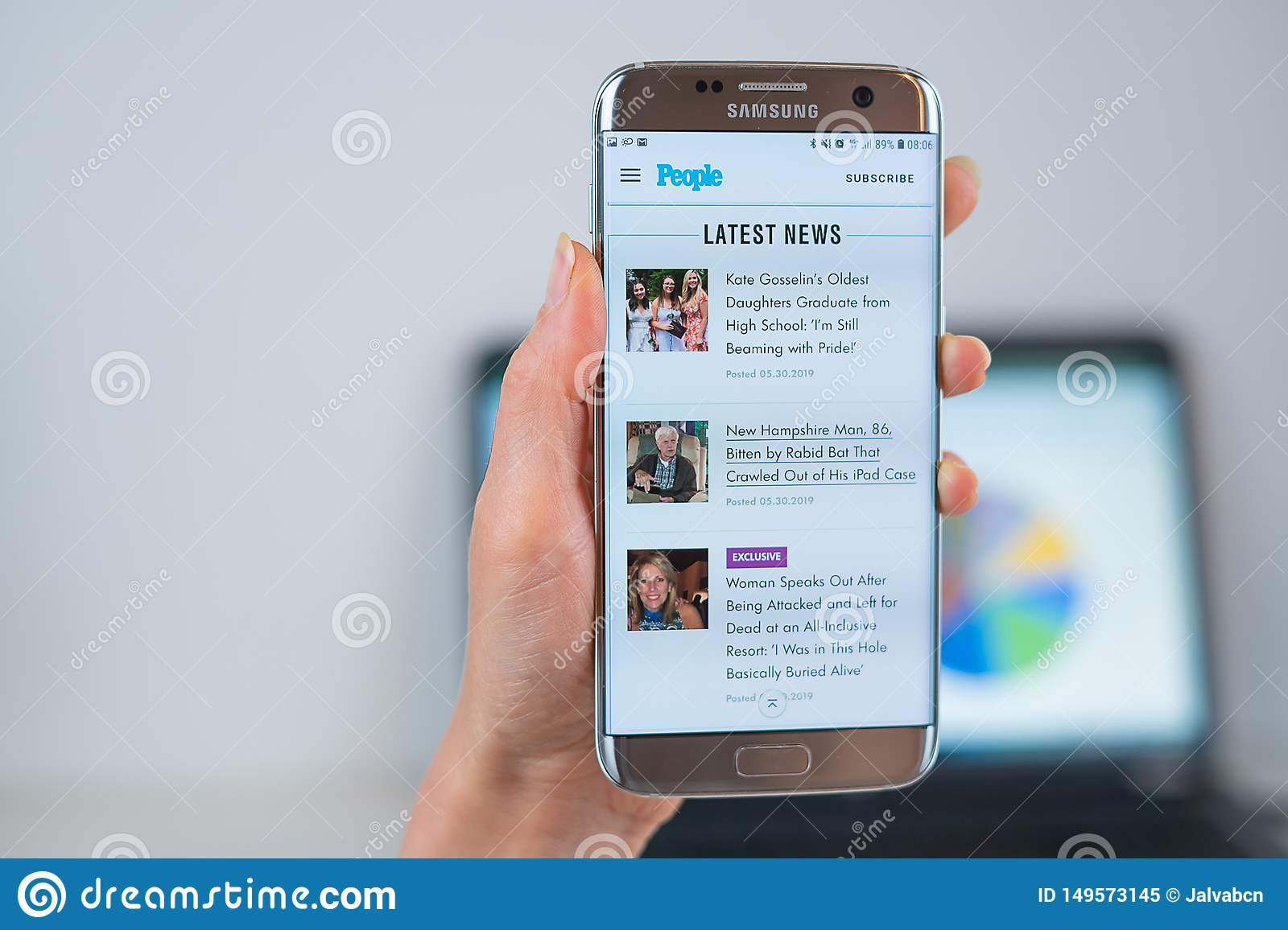People.com Web Site Opened On The Mobile Editorial Image
