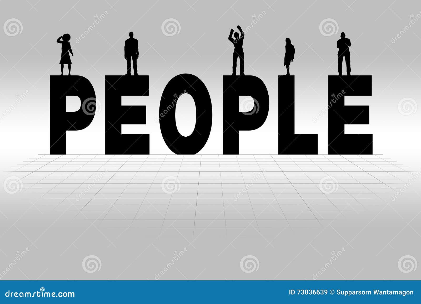 word palabra gente illustrated personas della concept leute silueta concetto wort gruppe veranschaulicht herein konzept personen vom gruppo persone illustrato