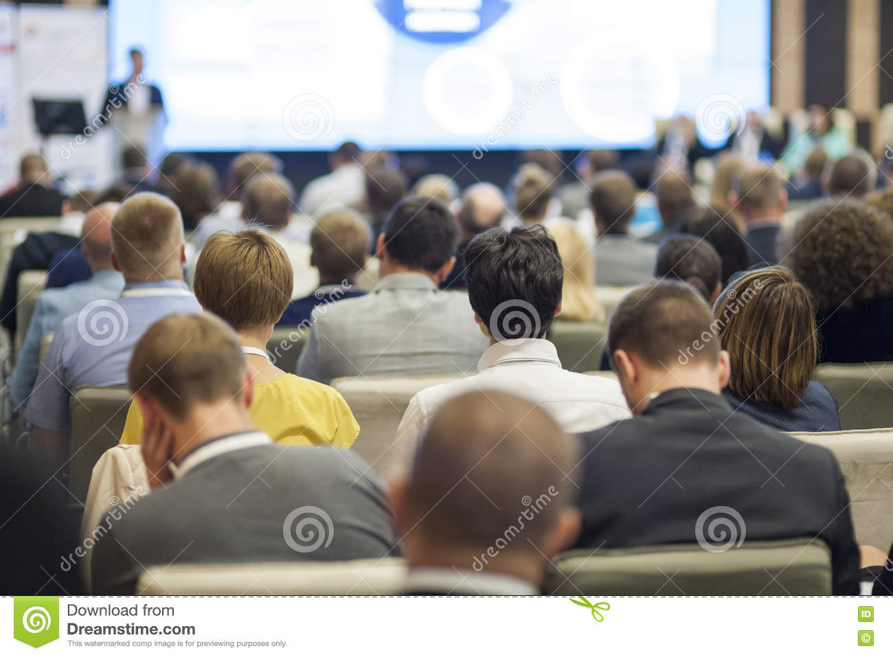 Crowd Of People Sitting Conference Room