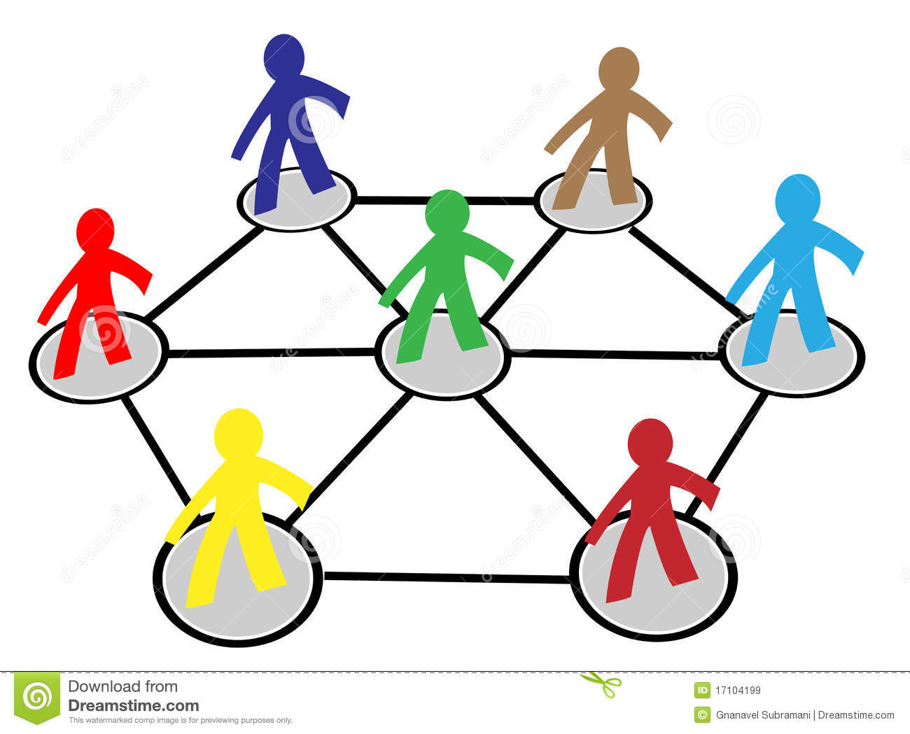 team or company people connect in business network on white ...