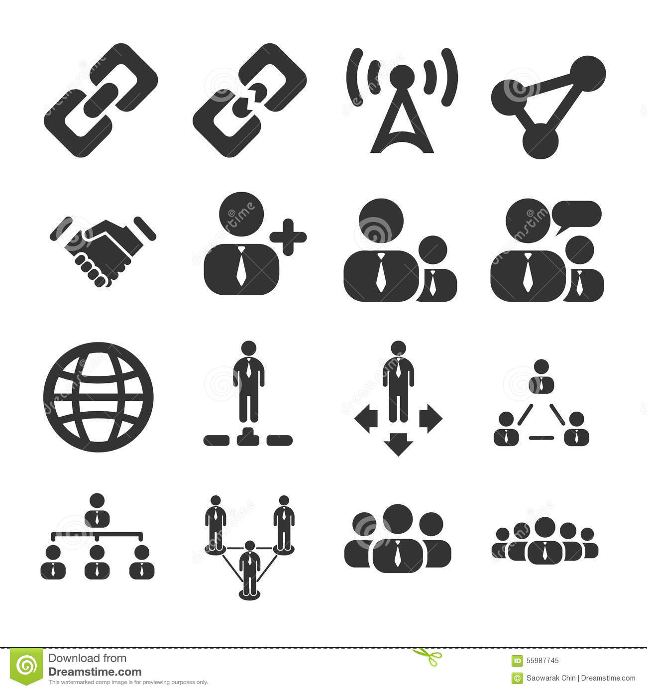 People Connection Icon Set stock vector. Image of market ...