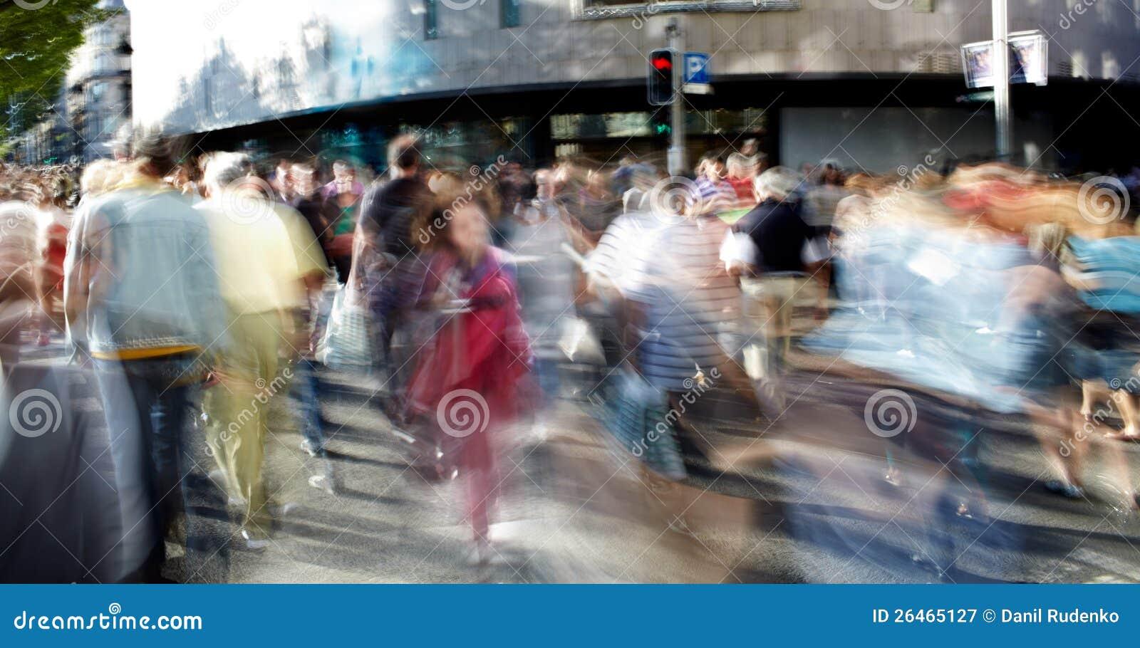 People crowd