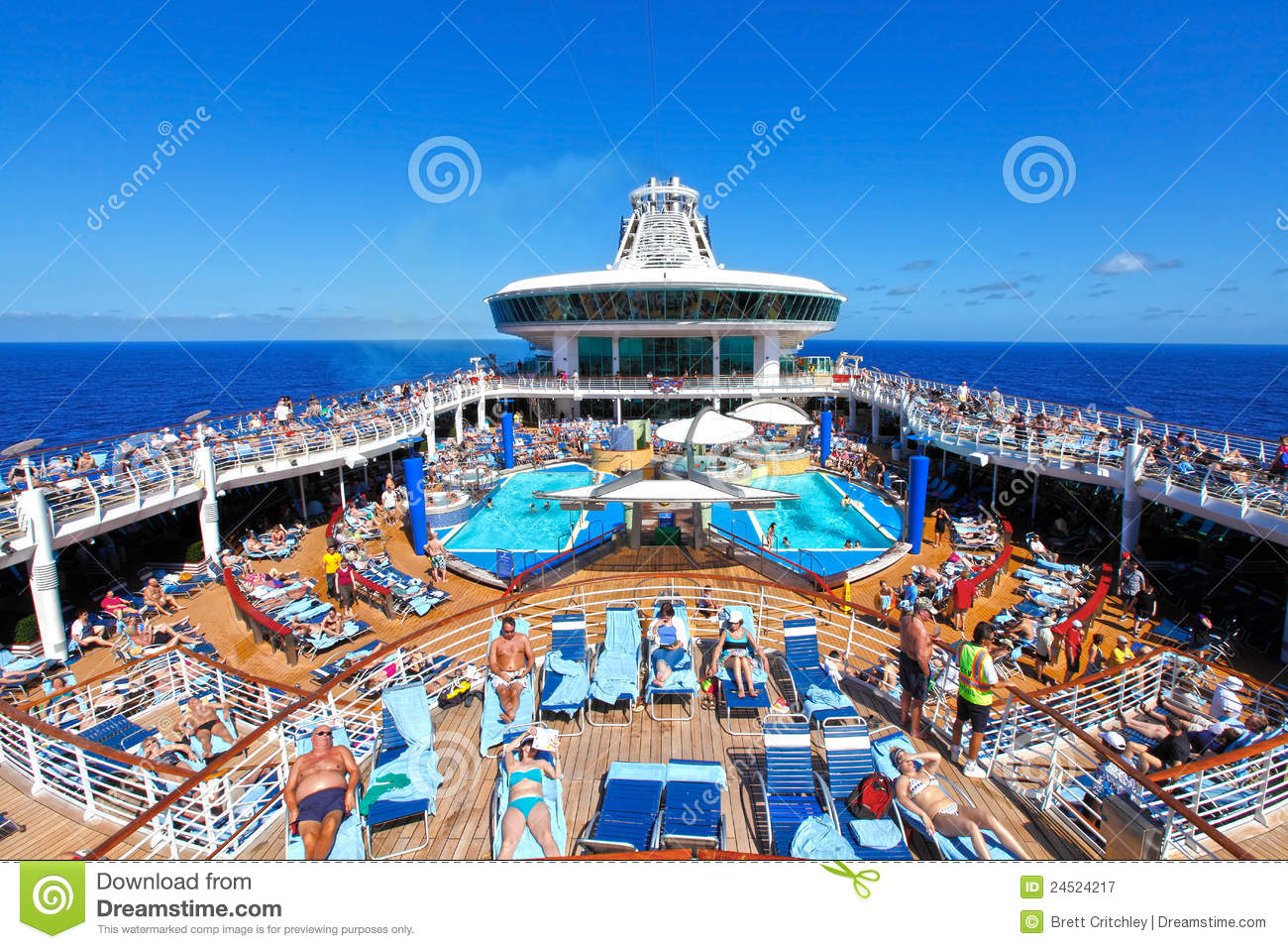 People Cruise Ship Deck Editorial Photography  Image