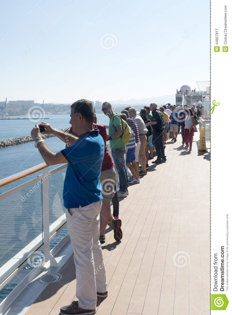 People On A Cruise Ship Deck Editorial Photography Image